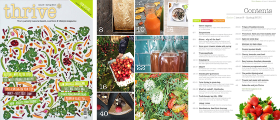 thrive health and nutrition magazine