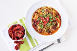 Tomato Courgette spagetti