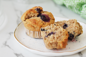 No added sugar blueberry muffins