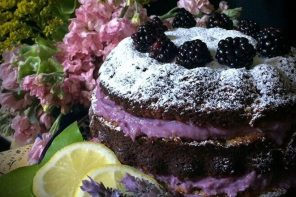 Chia and Lavender, Lemon Sponge Cake