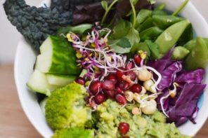 Rainbow Salad Bowl with Smashed Avocado