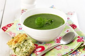 Watercress Gazpacho with Manchego Croutes