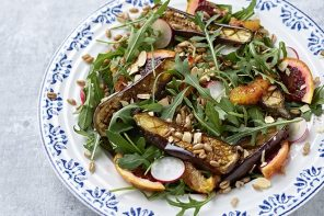 Moroccan-Spiced Aubergine and Spelt Salad