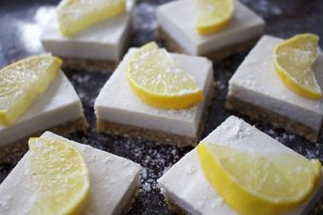 Lemon and Ginger Cheesecake Bites