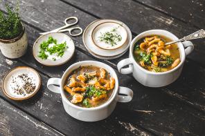 Wild Chanterelle Mushroom Soup
