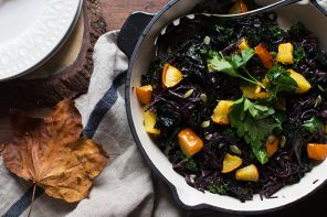 Pumpkin, Kale and Black Rice Noodles