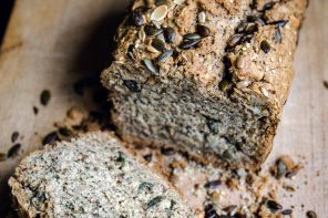 Nut and seed soda bread