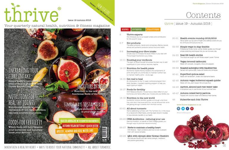 Autumn issue Thrive magazine