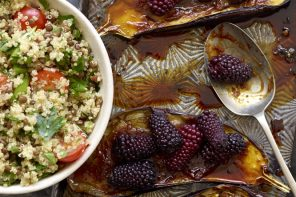 aubergine and berries recipe