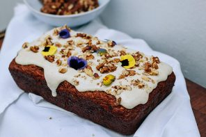 Spiced Carrot Loaf with Cashew Dressing