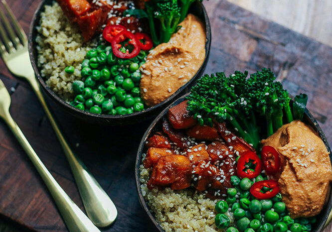 Miso Sweet Potato Buddha Bowl