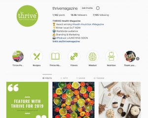 thrive instagram
