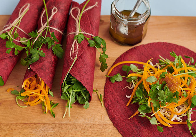beetroot wraps - Thrive Nutrition and Health Magazine