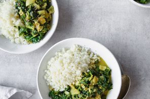 Nourishing Vegan Kale and Spinach Curry