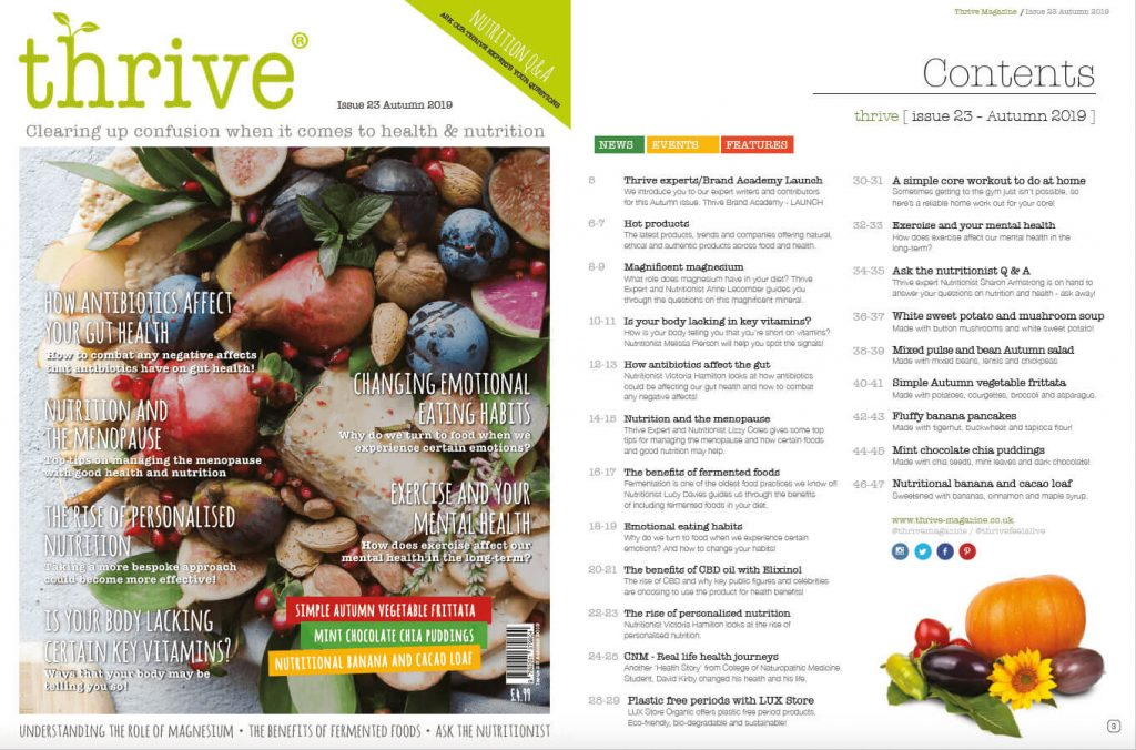 Autumn issue thrive health mag