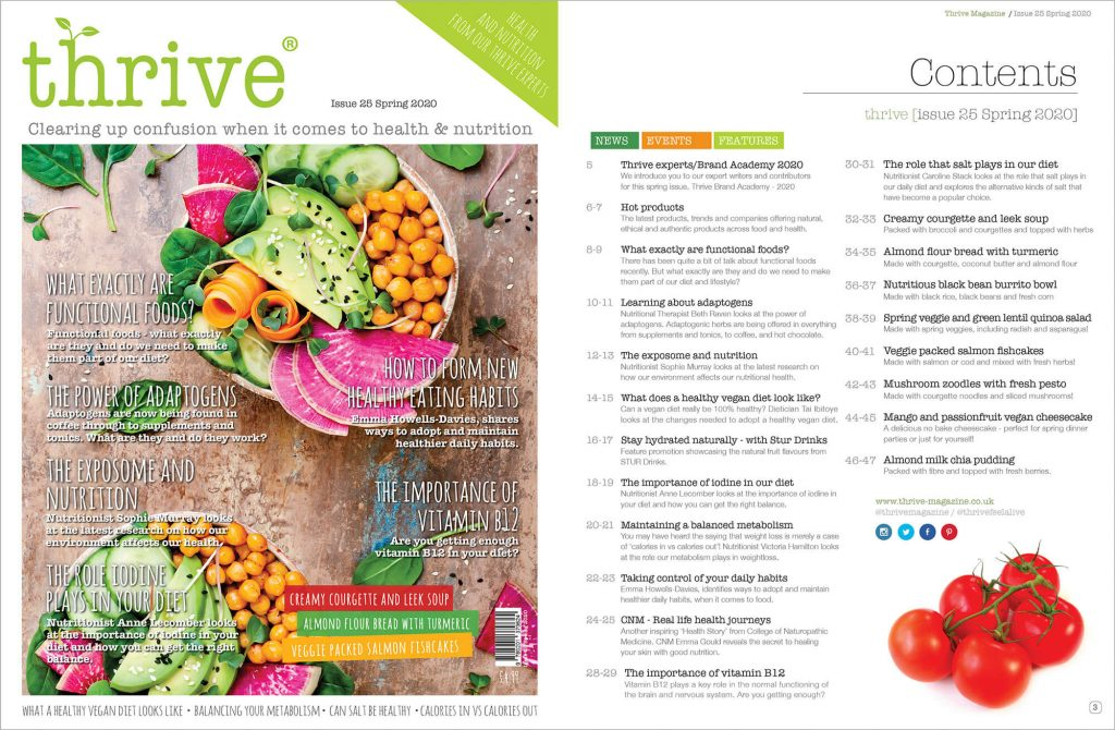 thrive health magazine spring 2020