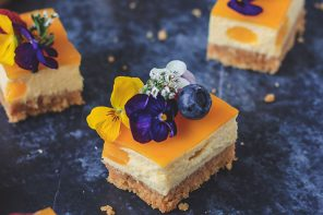 Mango and Passion Fruit Vegan Cheesecake