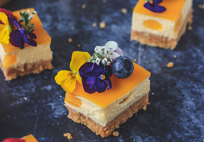 Mango and Passion Fruit Vegan Cheesecake a delicious no bake cheesecake