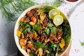Quinoa with Sauteed Kale and Courgettes