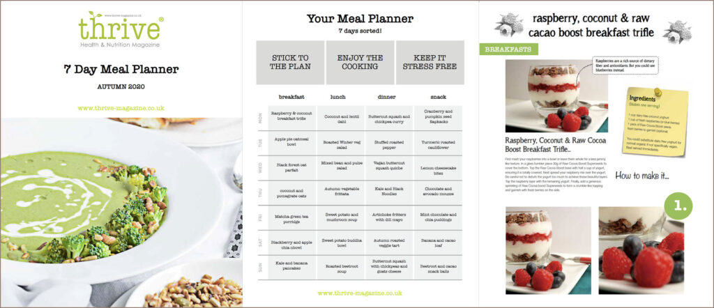 plant based meal planner