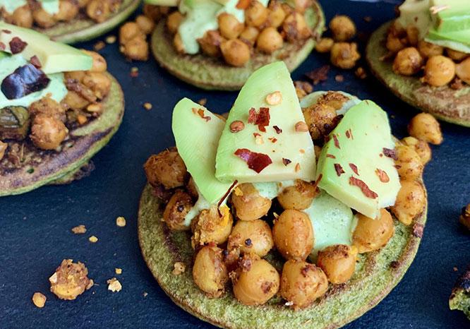 Spinach & Moong Flour Pancakes