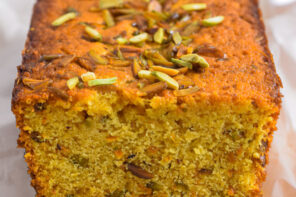 Orange Pistachio and Saffron Loaf