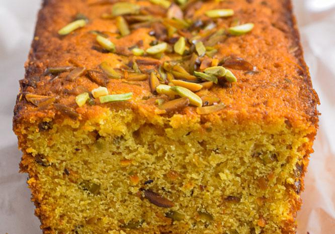 Orange Pistachio and Saffron Loaf