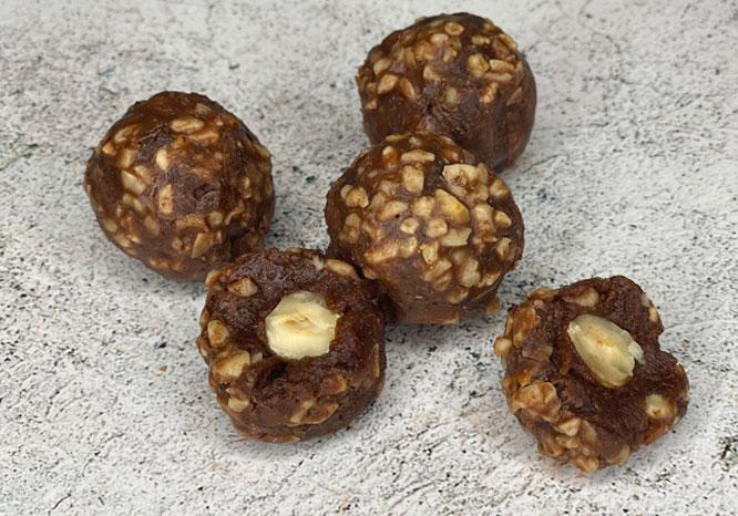 raw hazlenut truffles