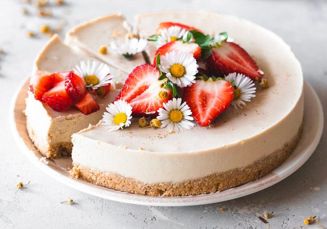 Chamomile Vanilla Cheesecake